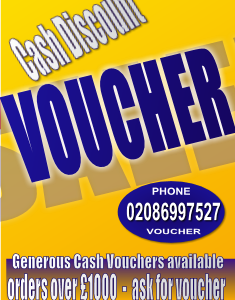 GET A CASH DISCOUNTS WITH VOUCHER